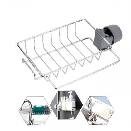 Kitchen Stainless Steel Faucet Sink Sponge Holder, Water Tap Soap Sponge Storage Rack
