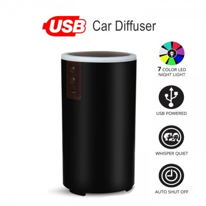USB Mini Humidifier Essential Oil Aroma Diffuser for Car, SUVs and Small Rooms Cool Mist Air Refresher