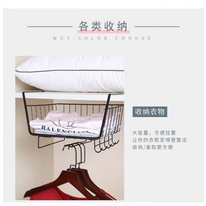 Creative Cabinet Hanging Basket Rack Metal Supplies Kitchen Rack Embedded Hanging Storage Storage