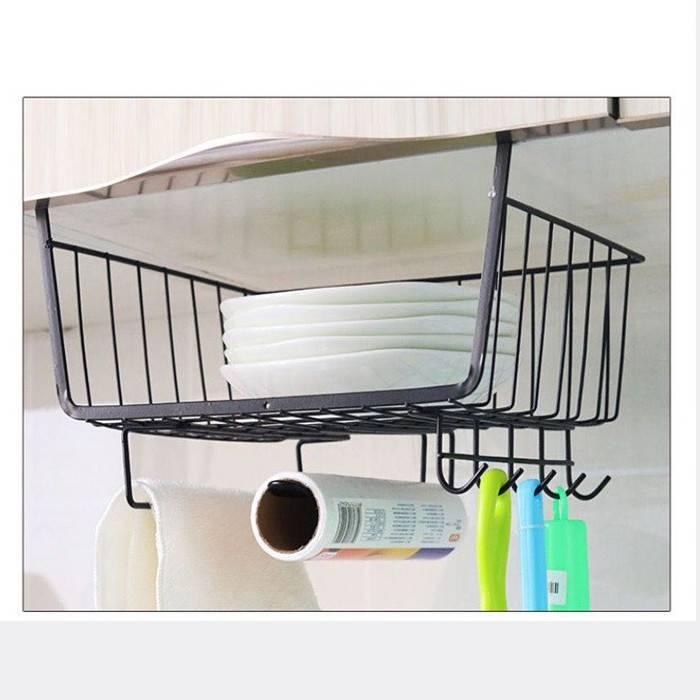 Creative Cabinet Hanging Basket Rack, Kitchen Cabinet Hanging Rack