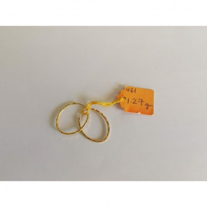 Subang Emas Ring bujur 1.27 gram 916