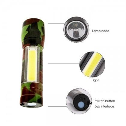 USB Mini Flashlight Torchlight Flash Torch Light LED Rechargeble