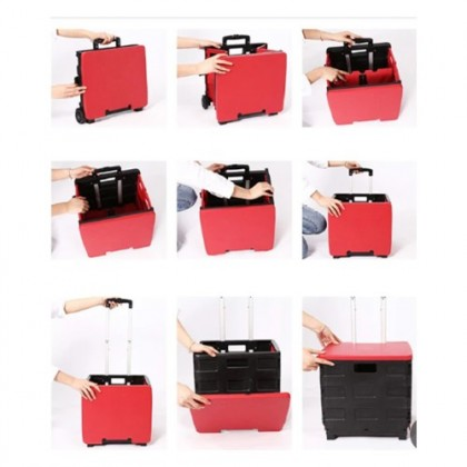 Foldable Portable Compact Shopping Trolley Cart | Troli Lipat Mudahalih