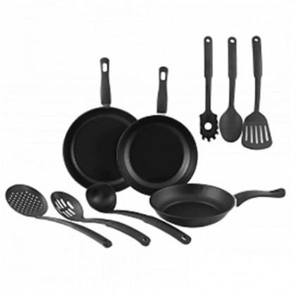 Kitchen Cookware Cooking Pans & Utensils Set [ 9PCS  ]