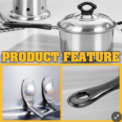 Periuk 20cm Single Handle Soup Pan Cooking Pot with Lid Cover