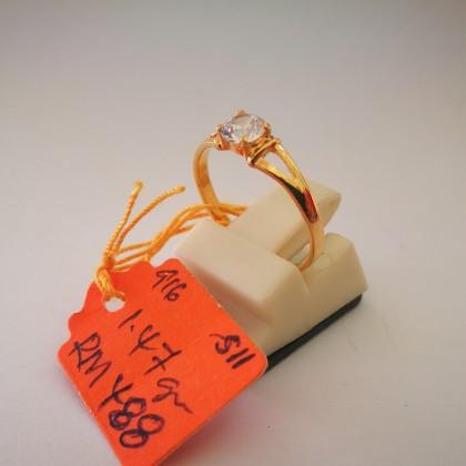 Cincin Batu Wanita emas 916 1.47 gram saiz 11