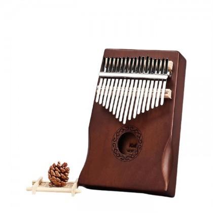 Wooden 17 Keys Acoustic Kalimba Thumb Piano