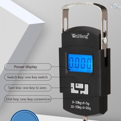Penimbang gantung boleh cas mudah alih WeiHeng WH-A25 Portable Rechargeable Luggage Scale