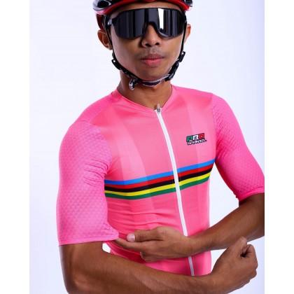 Jersi Basikal Pink Carana Pro Apparel Cycling Jersey Race Cut