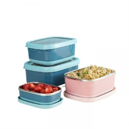 Stainless Steel Portable Lunch Box Camping Picnic Food Fruit Bento Box Keeping Fresh Container Food Crisper
