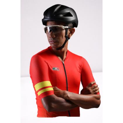 Jersi Basikal Jingga - Orange Clairo Pro Apparel Cycling Jersey Race Cut