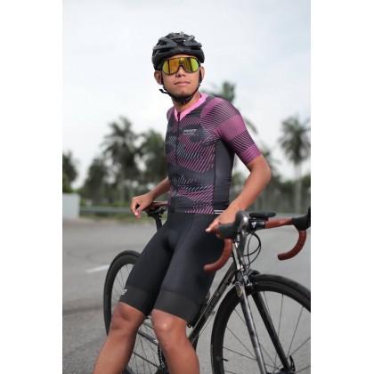 Jersi Basikal Merah Jambu Camo Pink Pro Apparel Cycling Jersey
