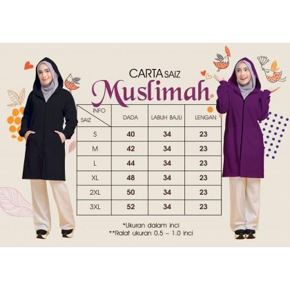 Hoodie Labuh Muslimah Grape Purple