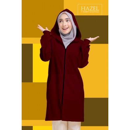 Hoodie Labuh Muslimah Maroon