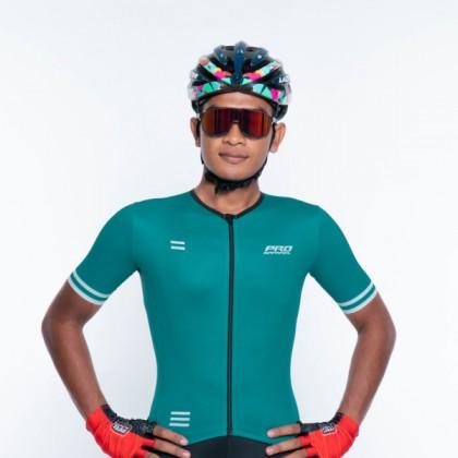 Jersi Basikal Hijau- Darkish Green Alpha Pro Apparel Cycling Jersey Race Cut