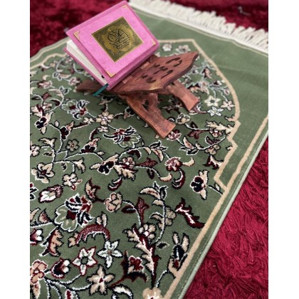 Sejadah Al Zahrah Collection 014 Hijau Tebal 6mm - Green Praying Rug