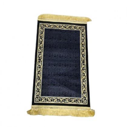 Sejadah Makkah  AlHaram 021Hitam Emas Tebal 6mm - Black Gold AlHaram Praying Rug